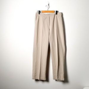 Vintage Tan Pleated High Waisted Trouser Pants
